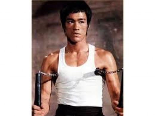 Bruce lee was an action film star who also starred in the television series called The Green Hornet.