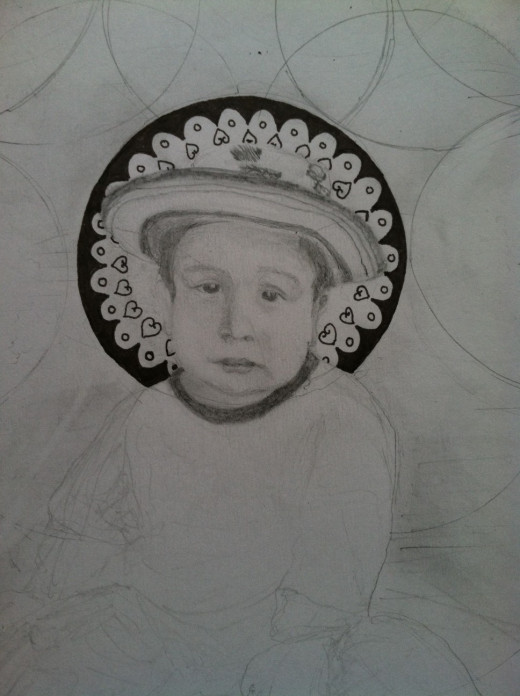 "My son never finished this of my other son--- really cool, he calls it ""work in progress"" right on! Aren't we all."