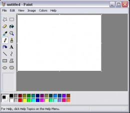 MS Paint with a blank drawing area.  Save the blank drawing area in .bmp format.  Close MS Paint.