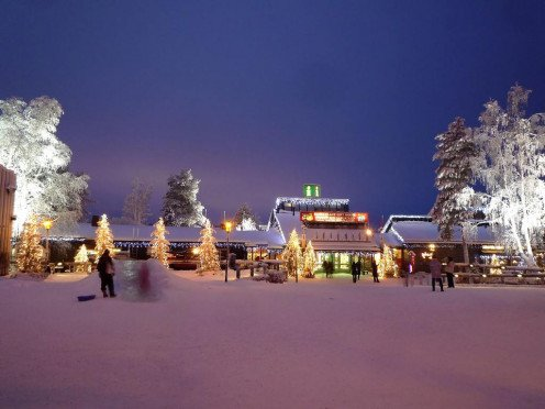 Santa Claus Village in Lapland is a story-book setting matched with amusement park entertainment - Finland style!
