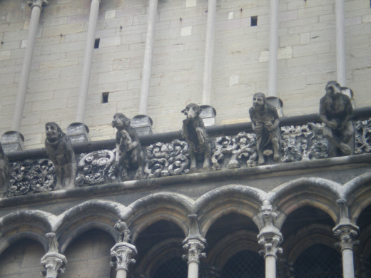 Gargoyles at the Church of Our Lady