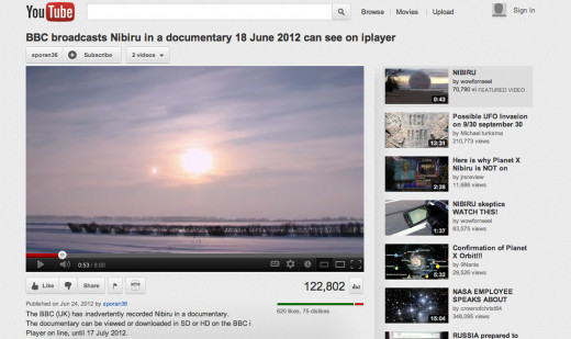 This YouTube video of Nibiru was put out by the BBC and clearly shows a second Sun in the sky.
