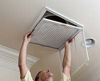 Replacing your AC filter can save energy.