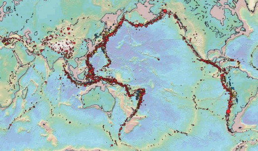 Seismic data derived from the Centennial Earthquake Catalog.