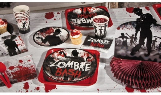 DEecorating a home for a zombie party is a fun task and one you can really let lose your creative side.