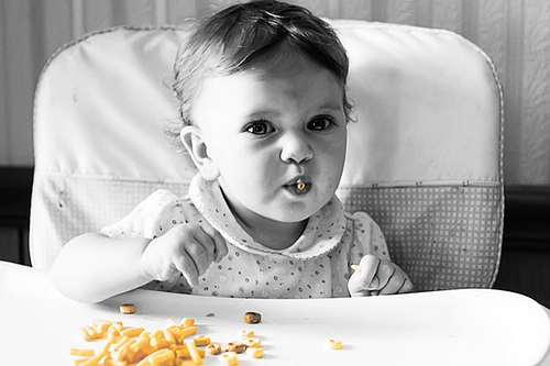 You're not a baby anymore so personally watch your diet and be certain that you eat only at a predetermined time.