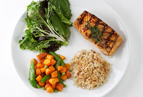 Stop when you're full and follow diet which compliments with all your daily nutritional needs.