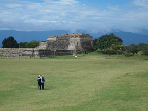 Entrance to the Ancient City of Monte Alban. Oaxaca, Mexico.