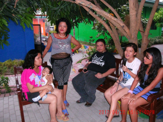 Family reunion in Poracay Resort last April, 2012 on my youngest granddaughter CyeCye's (not in picture) birthday.