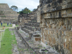 "This picture shows the ""talud-tablero "" architecture (a stepped building style with alternating vertical and sloping sections) in which buildings in Monte Alban were designed. Oaxaca, Mexico."