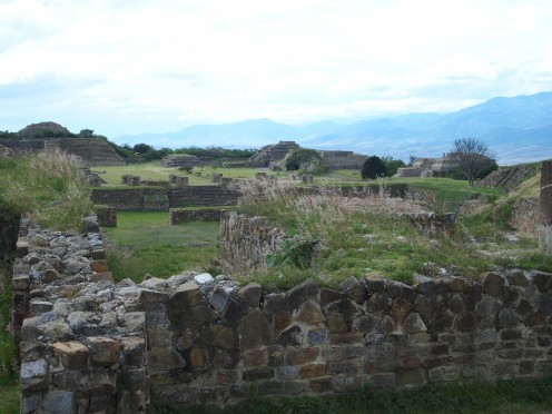 Monte Alban (end of the rainy season when is green and most beautiful). Oaxaca, Mexico.