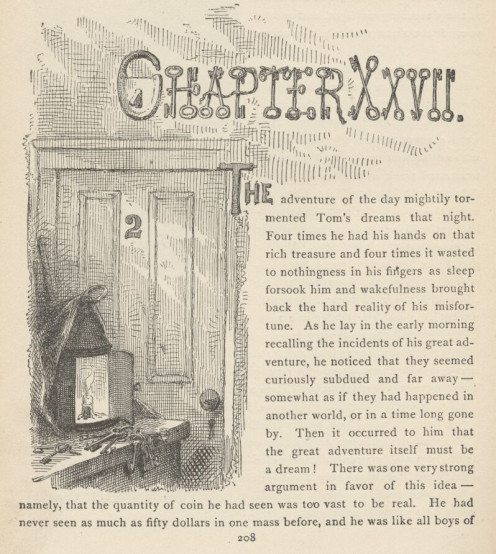 A page from Mark Twain's Adventures of Tom Sawyer.