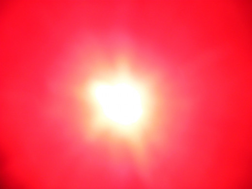 This is the most common image I get a big blob attached to the Sun, that looks like a part of it but isn't.