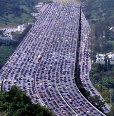 Traffic jams are veritable evils of development.