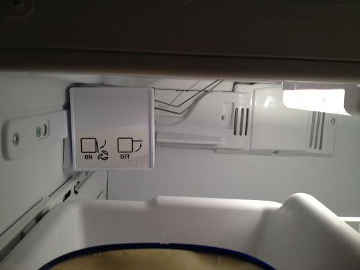 The ice lever in the refrigerator that allows the refrigerator to make ice should be in front. I find it a nuisance when i place items inside the freezer and i accidentally releases the lever in the rear. There should be a timed sensor built in to st