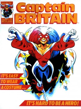 Betsy Braddock as Captain Britain