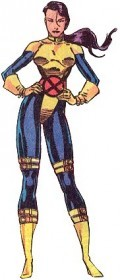Psylocke Yellow and Blue Costume, X-Men Uniform