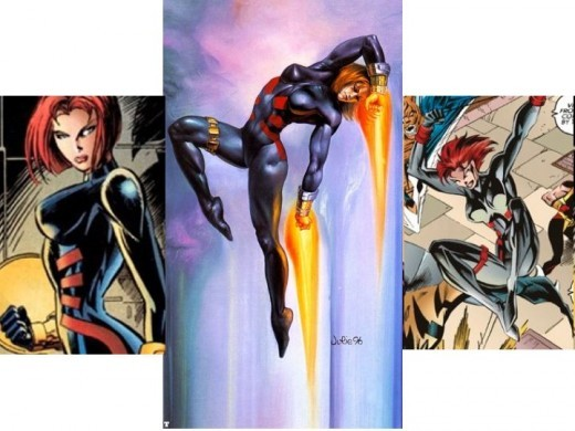 Black Widow Red and Black Spider Suit
