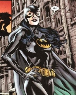 Helena Bertinelli as Batgirl. (see below, next to Cassandra Cain to see full body costume)