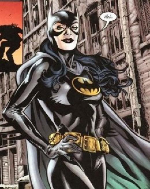 Helena Bertinelli as Batgirl. (see below, next to Cassandra Cain to see full body costume)