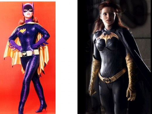 Yvonne Craig and Dina Meyer as Batgirl