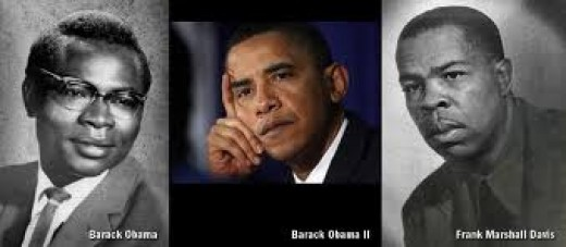 Which of the two men looks to be Obama's father?