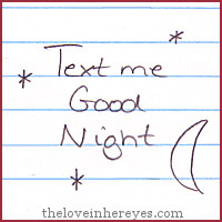 """Is typing """"Good Night"""" easier than having a conversation in person?"""