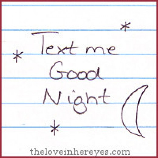 "Is typing ""Good Night"" easier than having a conversation in person?"
