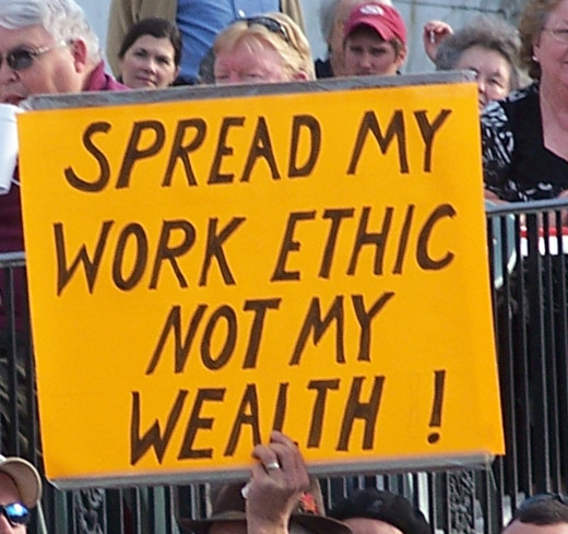 Spread work ethic not the wealth