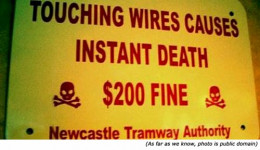 The designer of this sign is the kind that jokes about it too.