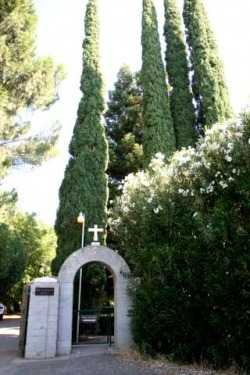ENTRANCE OF  TRAPPIST MONASTERY OF CLAIRVAUX,VINA CALIFORNIA