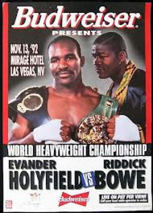 Evander Holyfield and Riddick Bowe fought three times during the 1990's and all three were classics.