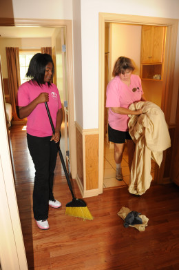 Could you use some help with the housekeeping?  Enlist the help of a friend or hire a maid!