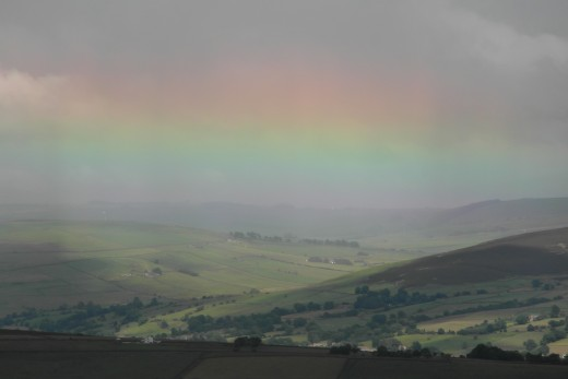 Rainbow from Pendle Hill