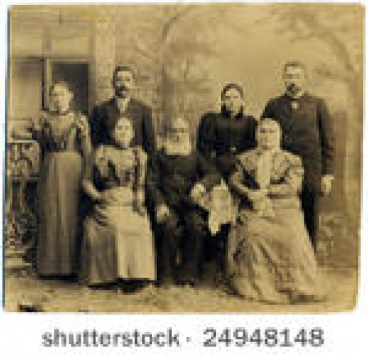 Example of a family photograph