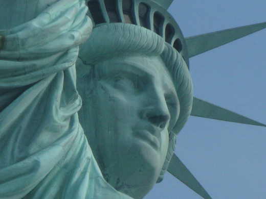 Statue of Liberty, Facial Shot