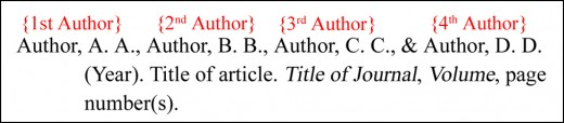 A JOURNAL ARTICLE WITH FOUR AUTHORS - BASIC FORMAT