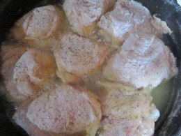 pan of battered chicken