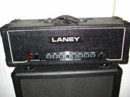 Vintage tube guitar amplifiers are a hot item but expensive to ship.  The buyer paid $65 shipping on this 1983 Laney AOR Pro Tube amp head.  I kept the Marshall cab.