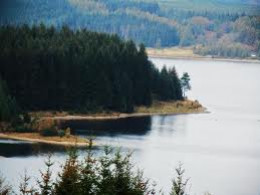 Kielder Water seen from Elf View with its oxbow shape