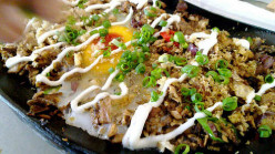 Sisig - Crispy Fried Pork Cheek and Ear with Mayo