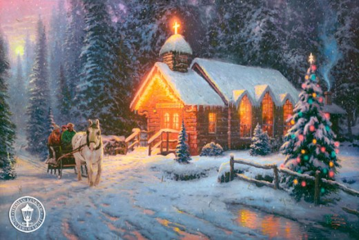 Thomas Kinkade Christmas Chapel
