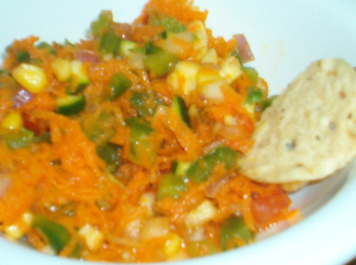 Carrot Salsa is just one fun idea for a portable vegetarian lunch.