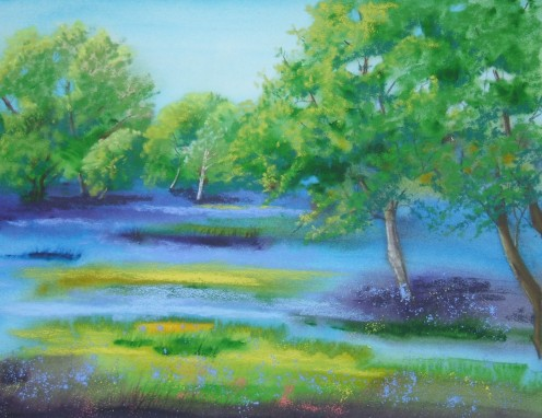 Buttercups and Bluebells - SOLD