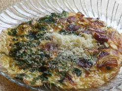 Easy Cilantro Onion Egg Recipe (Frittata) with Photos