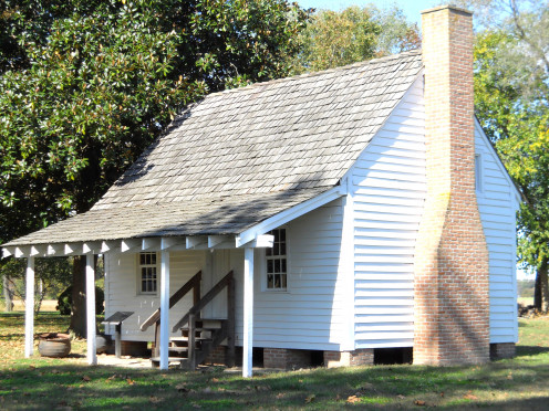 This wooden structure is the only documented log slave quarter in Delaware. It was found on the Ross estate & restored by the Seaford Historical Society.