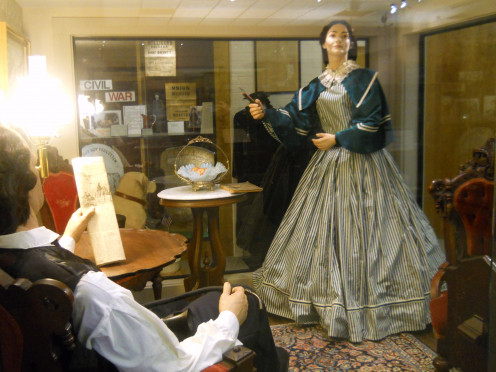 An historically accurate, recreated room and life-like figures of Governor Ross and his beautiful wife, Emiline, depicted together at the mansion can be seen at the near-by Seaford Museum. Note the long, horn shaped hearing aid on the Governor's lap.