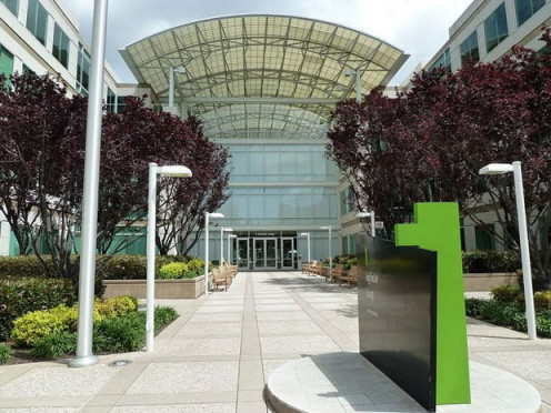 Apple's main office, one of the most successful electronic companies today.