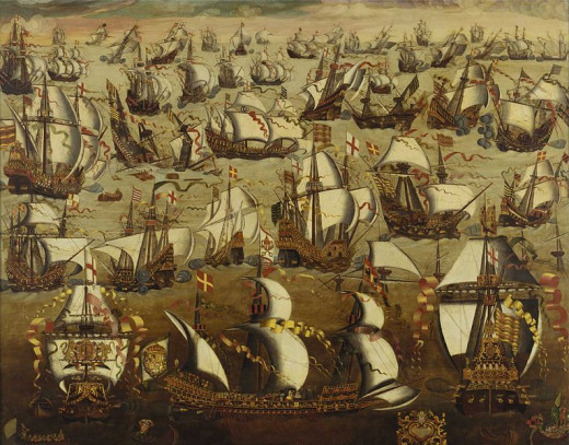English and Spanish face off in the English Channel to fight over control of southern England.