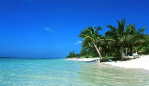 Caribbean romantic beach spot